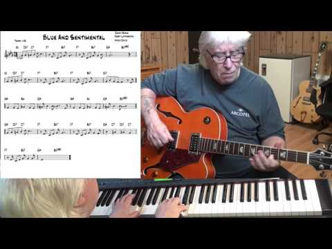 Blue And Sentimental - Jazz guitar & piano cover ( Count Basie, Jerry Livingston, Mack David )