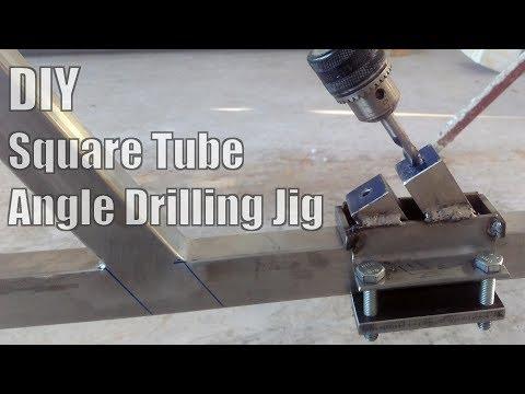 DIY Square Tube Angle Drilling Jig