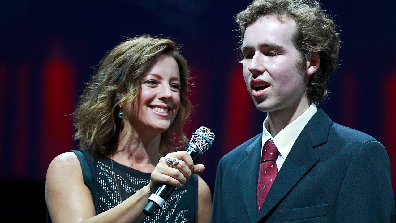 Sarah McLachlan performs with Canucks Autism Network Music Group
