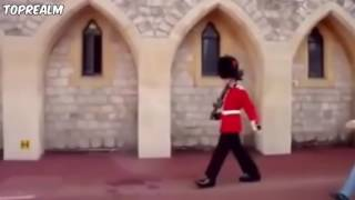 Why you don't mess with the queens guards!😱