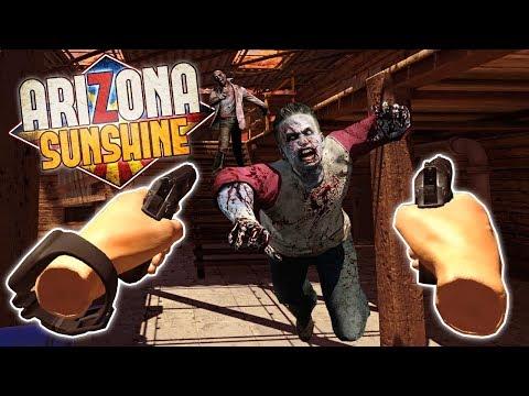 SURVIVING THE ZOMBIE APOCALYPSE IN VR! - Arizona Sunshine Multiplayer VR Gameplay - Oculus VR Game