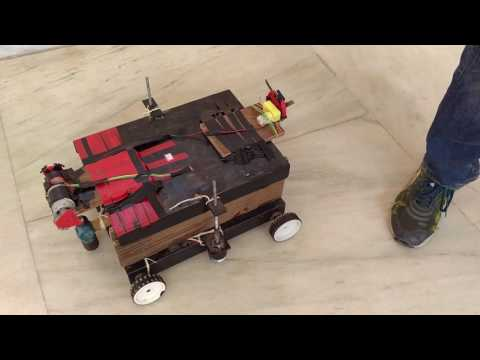 Amateur War Robot Using Arduino (Bluetooth Controlled)