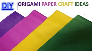 How to make 5 easy & simple paper craft || Diy || room decorating ideas