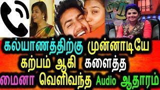 கல்யாணத்திற்கு முன்னாடியே கற்பம் ஆன மைனா நந்தினி,வெளிவந்த Audio ஆதாரம்|Tamil News