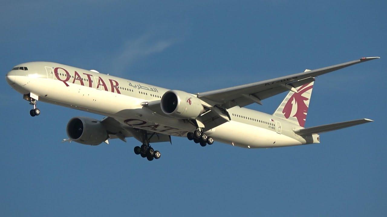 Qatar Airways Boeing 777-3DZ(ER) [A7-BES] | Arrival at Brisbane Airport
