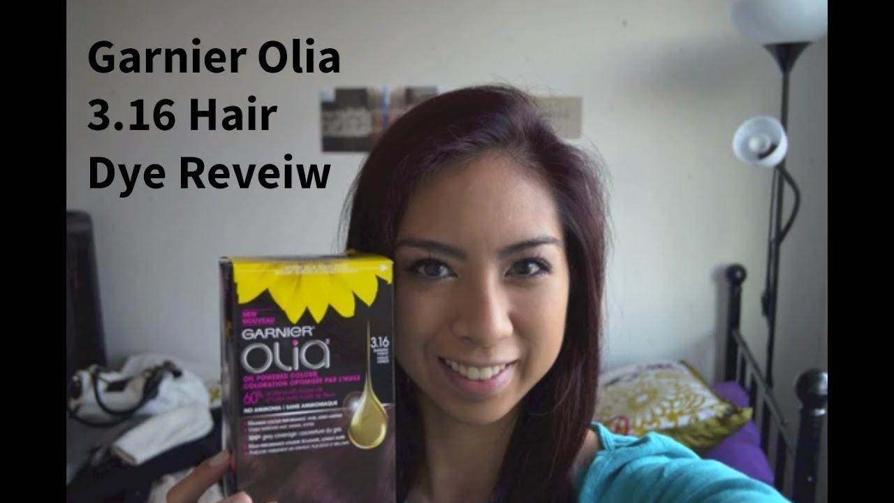 Garnier Olia 3 16 Darkest Violet Hair Dye Review Youtube