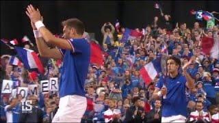 VIDÉO. Tennis – Coupe Davis : portée par son public, la France touche au but