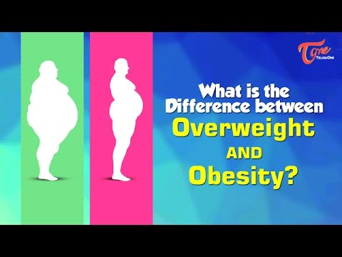 Difference Between Overweight and Obesity | Right Diet | by Dr. P. Janaki Srinath