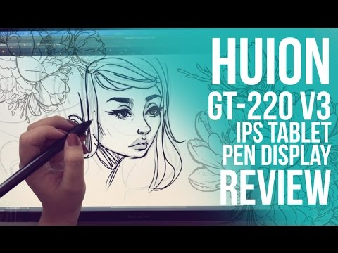 Make HUION GT-220 v2 IPS Tablet Pen Display Review // Jacquelindeleon Screenshots