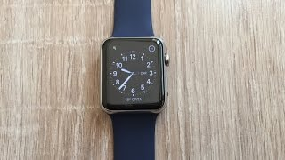 apple watch midnight blue sport band unboxing 42mm stainless steel