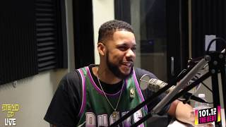 Clayton English interview w Jackie Morales The Wake Up Crew 101.1 The Beat...