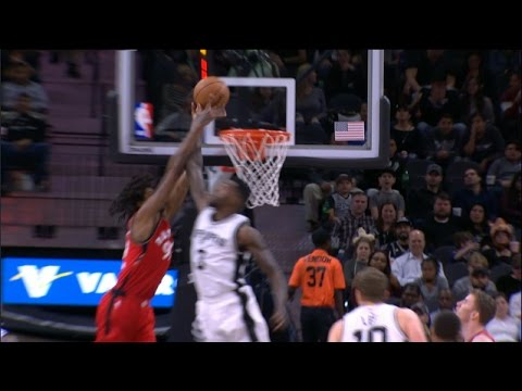 Dewayne Dedmon BLOCKS a Raptors Alley-Oop | 01.03.17