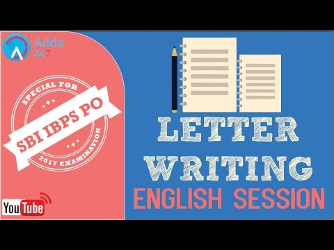 SBI PO 2017 | Letter Writing | English | Online Coaching for SBI IBPS Bank PO
