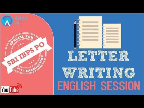 SBI PO 2017 - Letter Writing - English - Online Coaching for SBI IBPS Bank PO