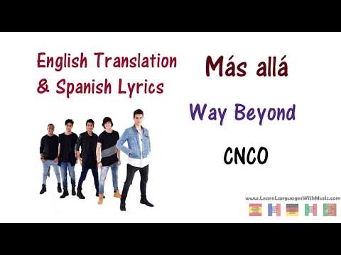 CNCO - Más allá Lyrics English and Spanish
