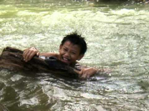 boy swimming river - photo #9