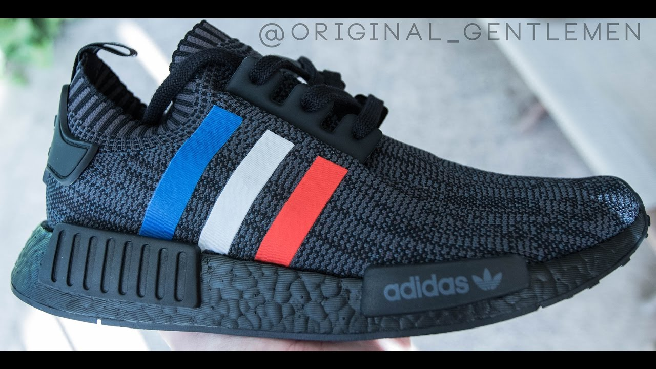 adidas shoes boost nmd tricolor black 587204