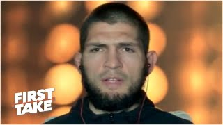 Khabib Nurmagomedov previews fight vs. Justin Gaethje at UFC 254 | First Take