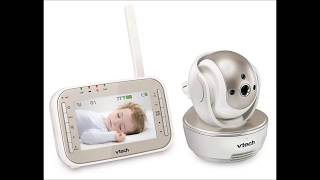 VTECH VM343 SAFE AND SOUND PAN AND TILT VIDEO BABY MONITOR WITH NIGHT VISION, WHITE