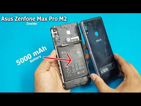 Asus Zenfone Max Pro M2 Open Back Panel Battery Disconnecting Zenfone Max Pro M2 Disassembly