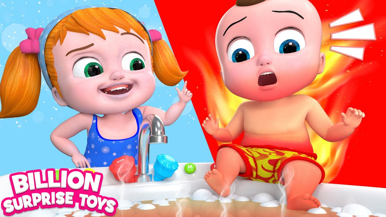 Anak-anak Bermain Tantangan Panas vs Dingin   Cerita lucu   Miliar Mainan Kejutan
