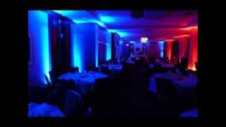 Duluth Event Lighting: Wedding lighting at the Holiday Inn, Duluth
