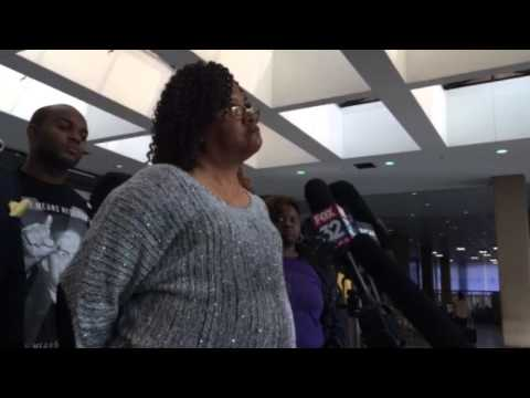 Angela Helton, Rekia Boyd's mother, after the first day of trial