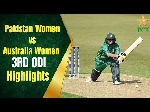 Pakistan Women vs Australia Women | 3RD ODI | Pakistan Women Batting Highlights | PCB thumbnail