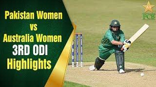 Pakistan Women Vs Australia Women | 3rd Odi | Pakistan Women Batting Highlights | Pcb