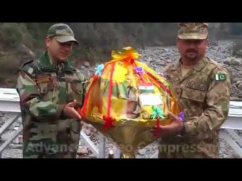 Indian Army and Pakistan Army exchanging Diwali sweats and gifts