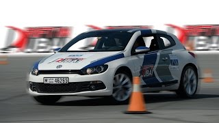 Dubai Drift VW Scirocco at Dubai Autodrome