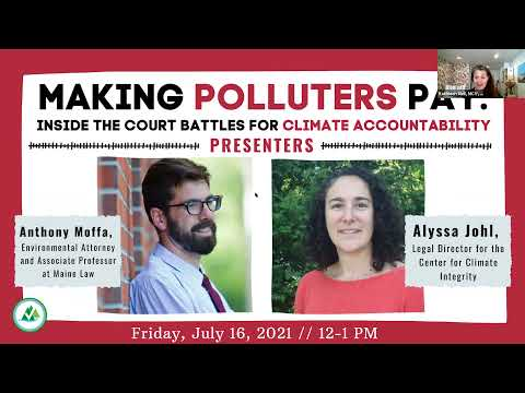 Lunch & Learn: Making Polluters Pay: Inside the Court Battles for Climate Accountability