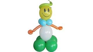 Мальчик из воздушных шаров Balloon boy(Здравствуйте, дорогие друзья! Сегодня делаем мальчика из воздушных шаров. Видео мастер-класс