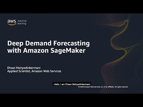 Deep Demand Forecasting with Amazon SageMaker