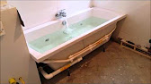 Установка ножек на ванну Стандарт - YouTube
