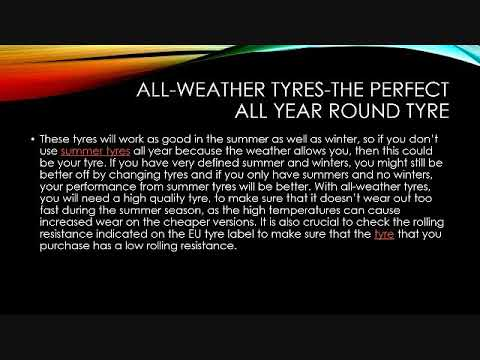 All-weather tyres-the perfect all year round tyre