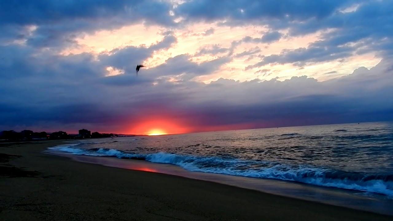 Relax Amanecer En La Playa Sonido Del Mar Hd 1080p Música Relajante Youtube