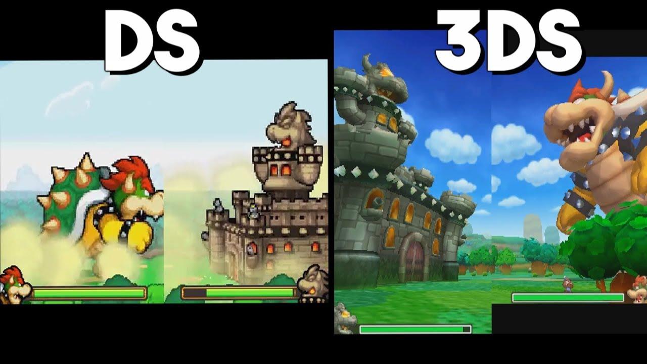 Mario Luigi Bowser S Inside Story 3ds Vs Ds Giant Battle