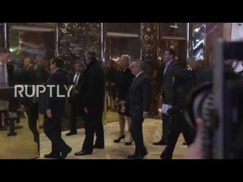 USA: Tech executives arrive at Trump Tower to meet president-elect