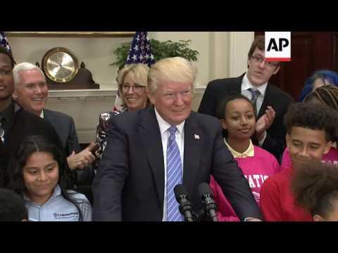 Trump Asks Congress to Extend School Choice