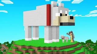 Built A G ANT BORK STATUE  N Bee Town Minecraft