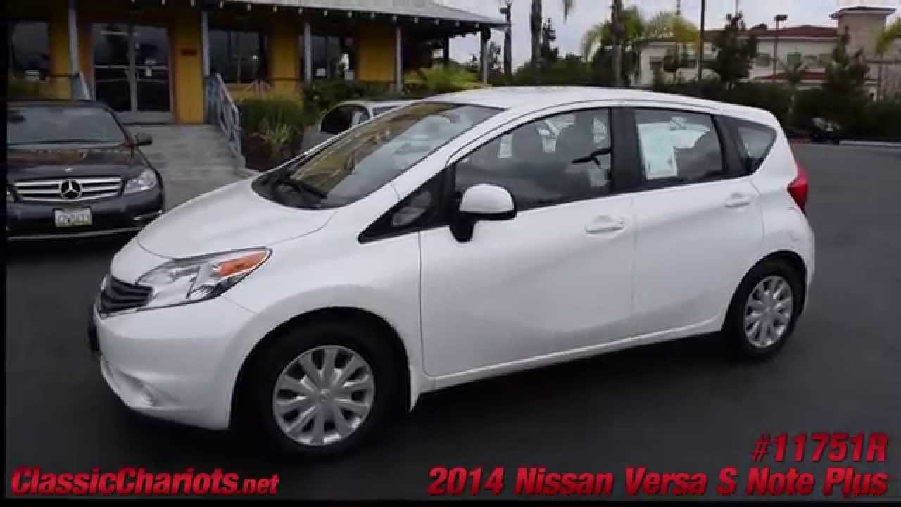 used 2014 nissan versa note s plus for sale in vista at classic chariots 11751r youtube. Black Bedroom Furniture Sets. Home Design Ideas