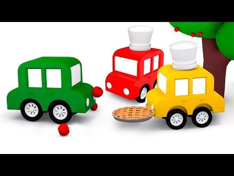Çizgi film 4 küçük araba. Arabalar elmalı turta yapıyor! Eğitici video