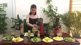 So sánh, đánh giá máy ép trái cây Hurom HZ , Kuvings Evo 820 & Biochef 666