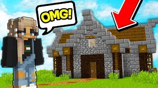 Her Minecraft Skyblock island got GRIEFED... so I SURPRISED her with a NEW one!