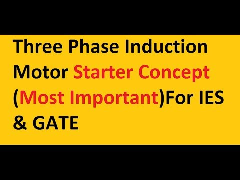 3 Phase Induction Motor !! Starter Concept !!