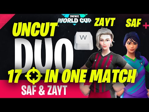 Fortnite World Cup Week 4 Winners NRG Zayt and Ghost Saf Uncut Footage|17 Eliminations in One Match