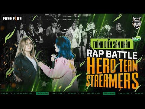 Đại chiến Rap: Hero Team x Streamers Free Fire | Live tại Chung kết Yomost ĐTST Xuân 2021