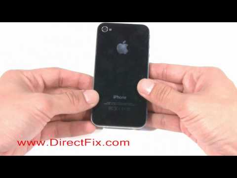 How To Replace iPhone 4 Back Glass Cover | DirectFix