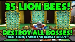 35 ABEILLES AU LION!?! DÉTRUISEZ TOUT ! Simulateur d'essaim d'abeilles Roblox